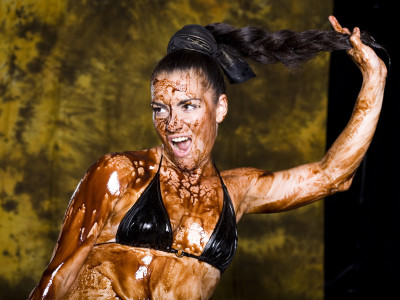 Sexy Chocolate Mud Wrestling