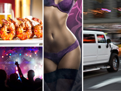 Dinner + Hummer 30 Min + Striptease Inside Limo + Night Club Entry