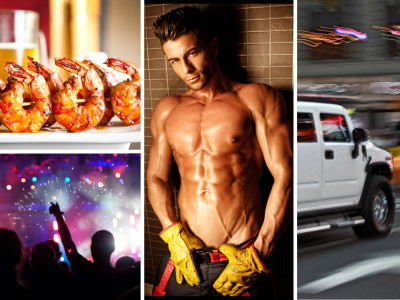 Hen Dinner + Hummer 30 Min + Striptease Inside Limo + Night Club Entry