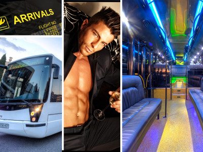 Party Limobus Airport Pickup + Striptease