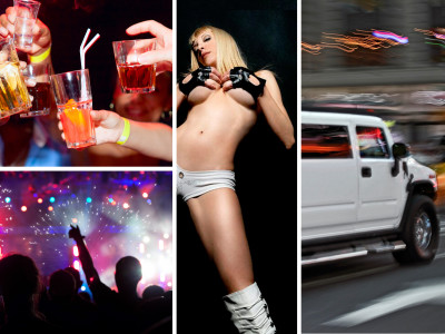 Limousine Hummer 1 hour + Striptease + Mini Bar Crawl + Night club entry
