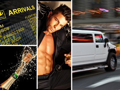 Hummer Airport Pickup with Sexy Boy