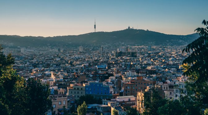 A skyline shot of Barcelona, one of the best stag do destinations.