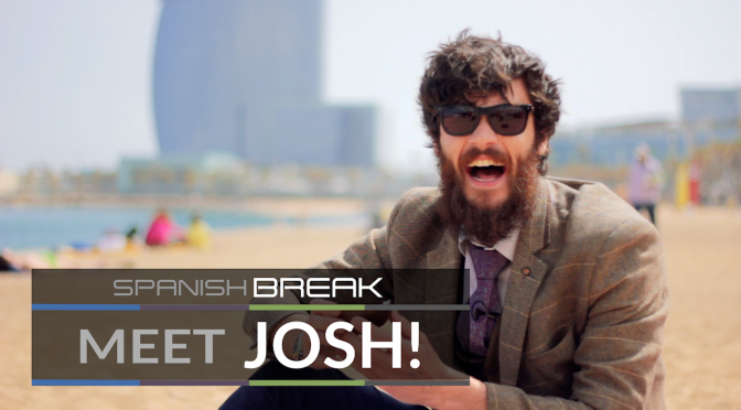 A Photo of Josh, the Spanish Break Events Manager, on the beach in Barcelona.