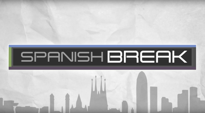 A screenshot of the Spanish Break logo that appears in the recent explainer video that we created.