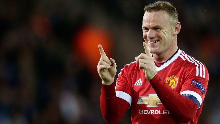 A photo of Wayne Rooney in a Manchester United shirt