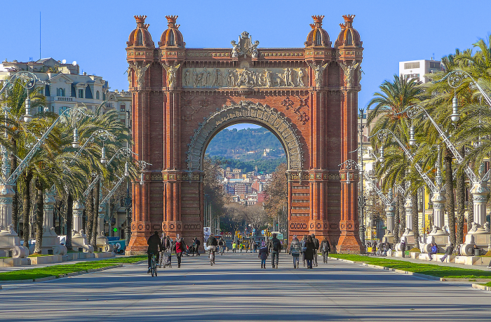 A photo of the Arc de Triomf in Barcelona